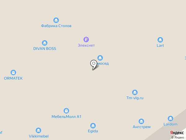 Askona на карте Волгограда