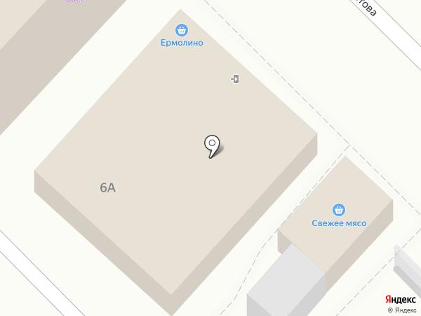 Магазин мясной продукции на ул. Батова на карте Волгограда