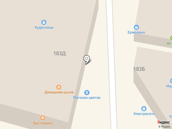 Этикетъ на карте Краснослободска