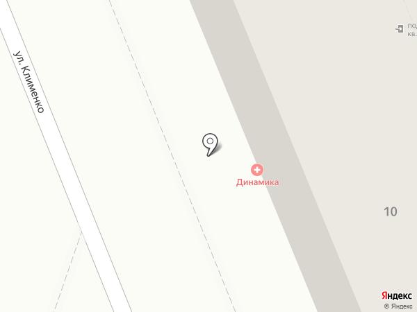 Форд на Клименко на карте Волгограда