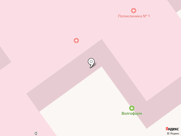 Клиническая поликлиника №9 на карте Волгограда
