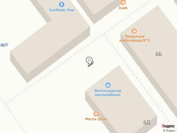 Хлебозавод №5 на карте Волгограда
