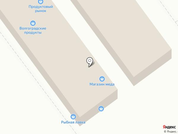 Киоск овощей и фруктов на карте Волгограда