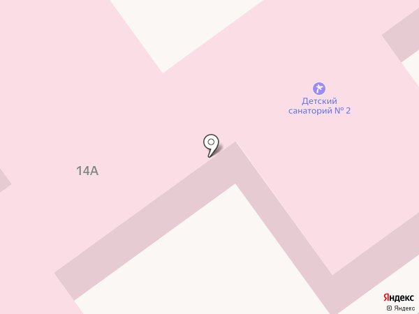 Волгоградский областной детский санаторий на карте Волгограда