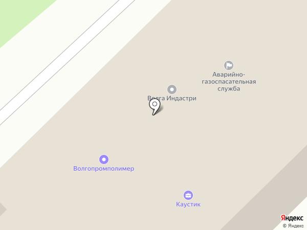 Каустик на карте Волгограда