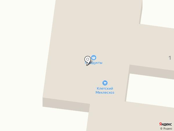 Сеть продуктовых магазинов на карте Клетского