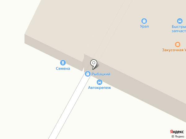 Рыбацкий на карте Волжского