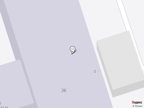 Средняя общеобразовательная школа №19 с углубленным изучением отдельных предметов на карте Волжского