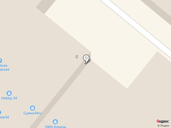 Магазин хозяйственных товаров на карте Волжского
