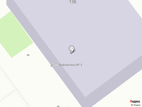 Детская библиотека №3 на карте Волжского