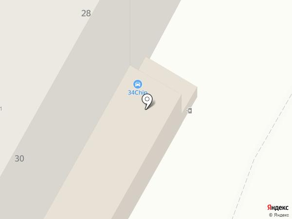Айрон на карте Волжского