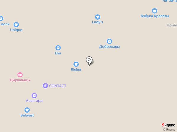 Жан и Параскева на карте Волжского