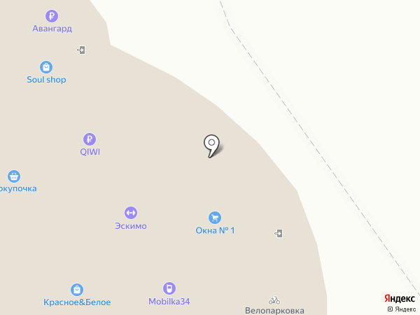 Магазин зоотоваров на карте Волжского