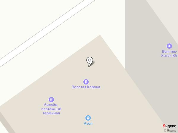 Хитэк-Юг на карте Волжского