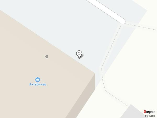 Ахтубинец на карте Средней Ахтубы