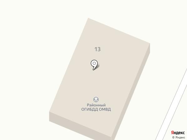 Отдел ГИБДД на карте Средней Ахтубы