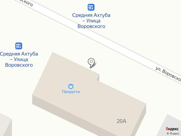 Луч на карте Средней Ахтубы