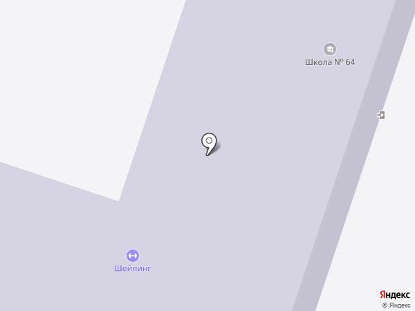Октябрьский на карте Пензы