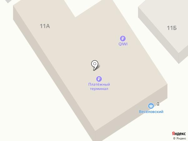 Веселовский на карте Пензы