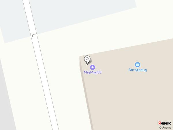Автотренд на карте Пензы
