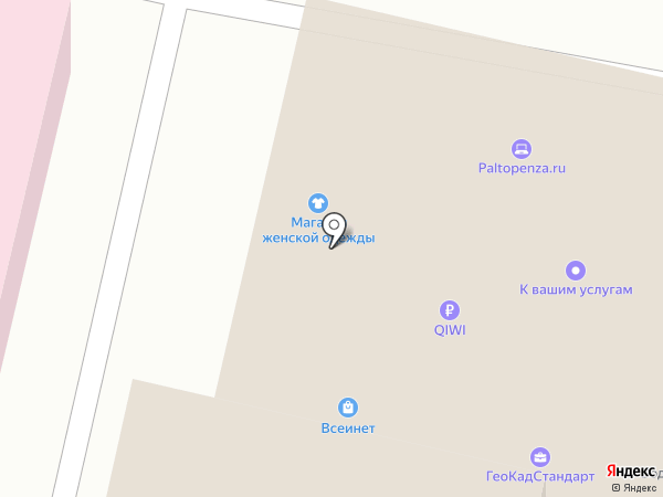 Компас на карте Пензы