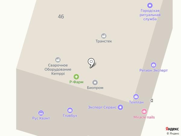 Рука помощи на карте Пензы