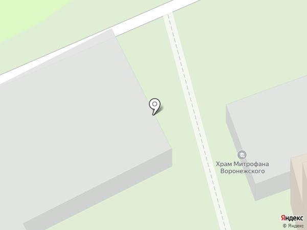 Митрофановское кладбище на карте Пензы