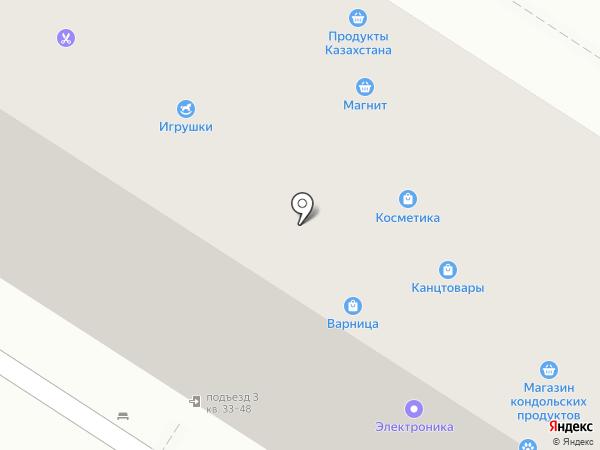 Бретелька на карте Пензы