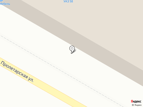 Магазин автотоваров для УАЗ на карте Пензы