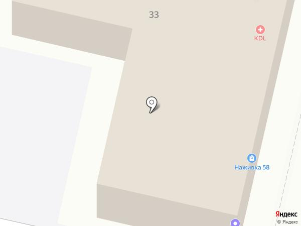 Скрепка на карте Пензы