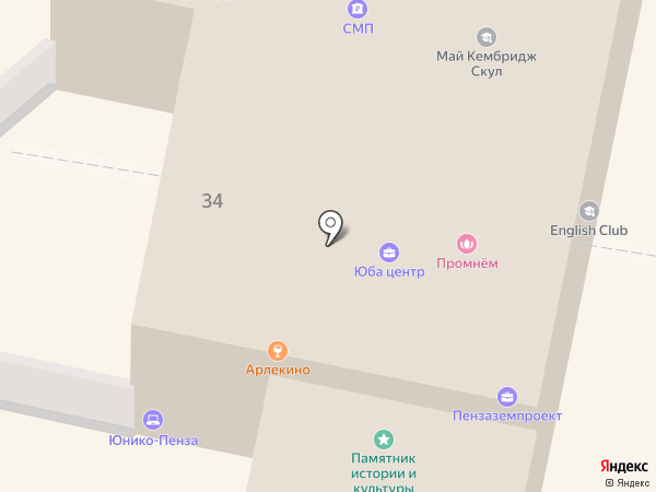 Астэко на карте Пензы