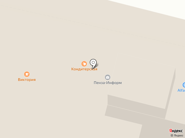 Виктория на карте Пензы