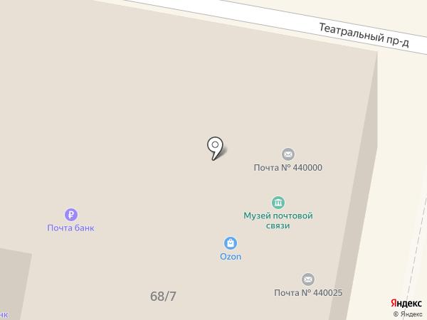 Почта Банк, ПАО на карте Пензы