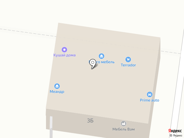 Меандр на карте Пензы