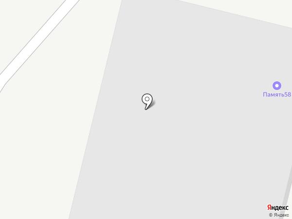 Интертехнострой на карте Пензы