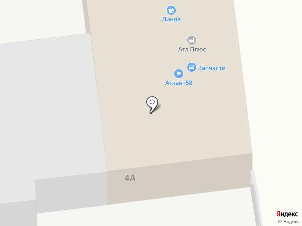 Стройматериалы у переезда на карте Пензы
