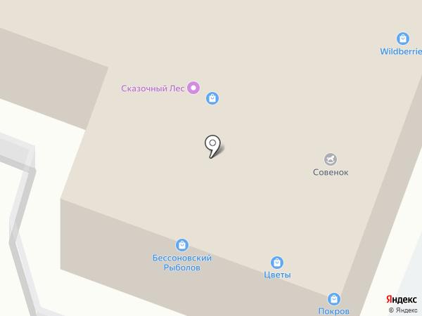 Магазин цветов и зоотоваров на карте Бессоновки