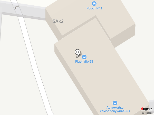 Автокомплекс на карте Пензы