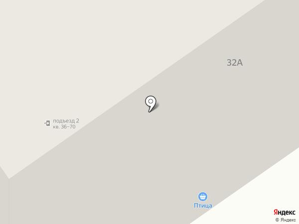 Птица на карте Саранска