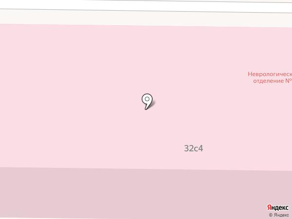 Республиканская клиническая больница №4 на карте Саранска