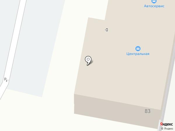Центральная на карте Заречного