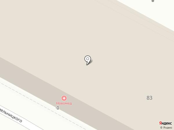 Новомед на карте Саранска