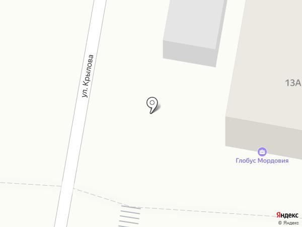 Глобус Мордовия на карте Саранска