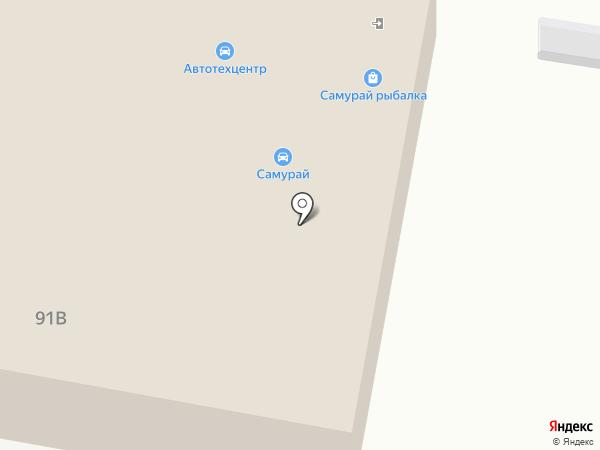 Самурай на карте Саранска