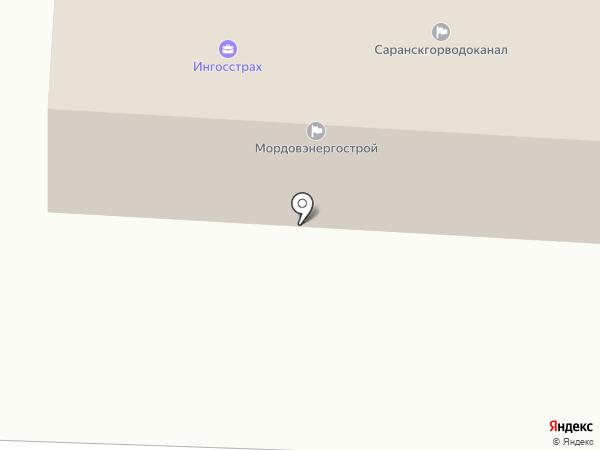 Бюро рекламы в Дачном переулке на карте Саранска