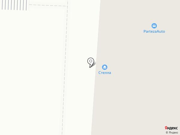 Стелла на карте Саранска