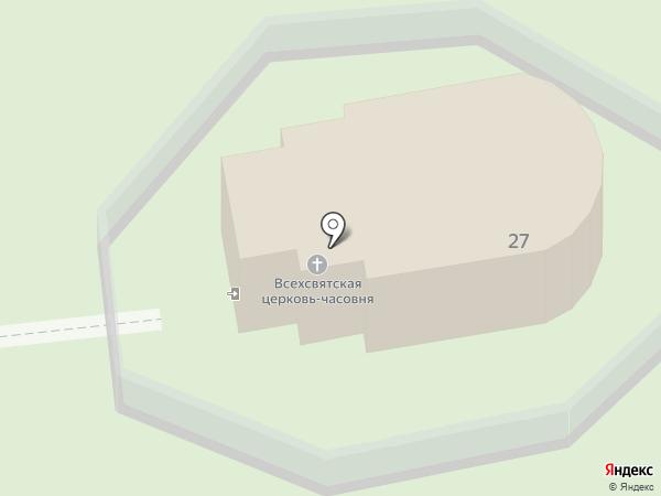 Храм Всех Святых на карте Пензы
