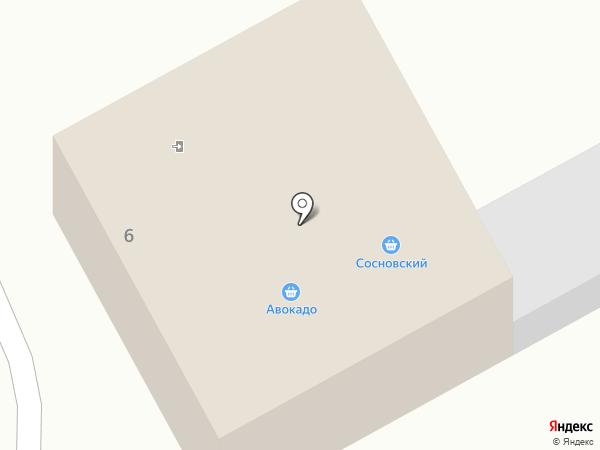 Сосны на карте Сосновки