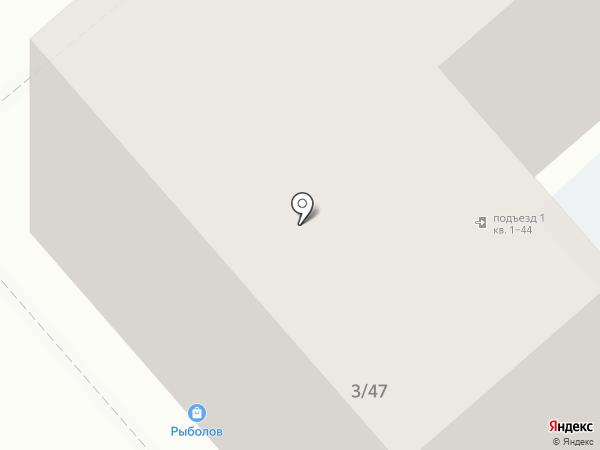Рыболов на карте Саратова