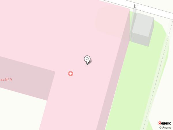 Городская поликлиника №9 на карте Саратова